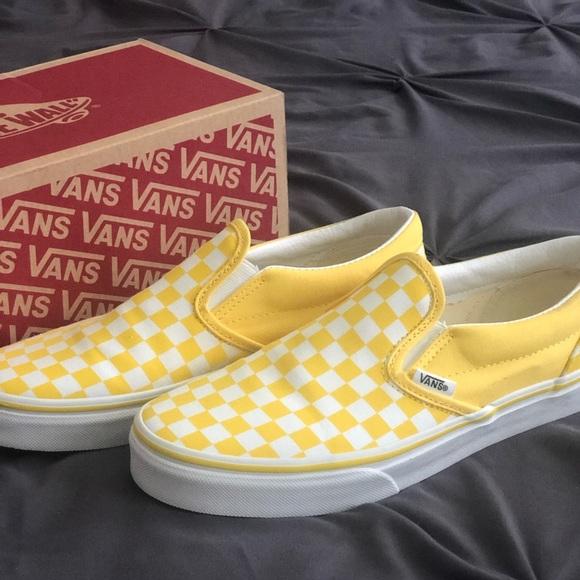 vans yellow slip on